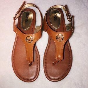 michael kors tan/brown sandals